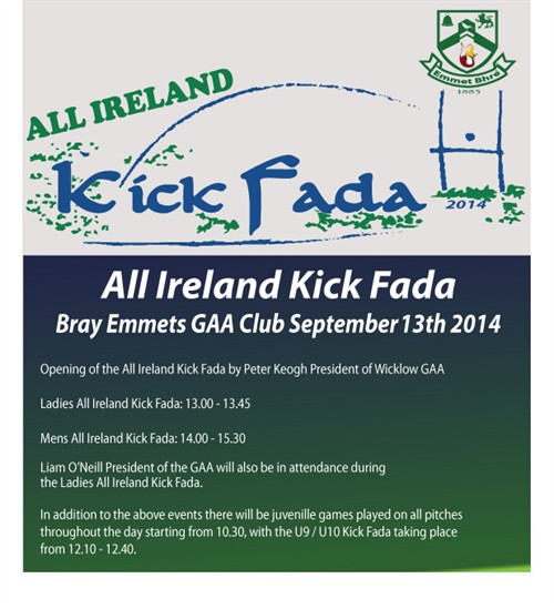 Kick Fada 2014 schedule