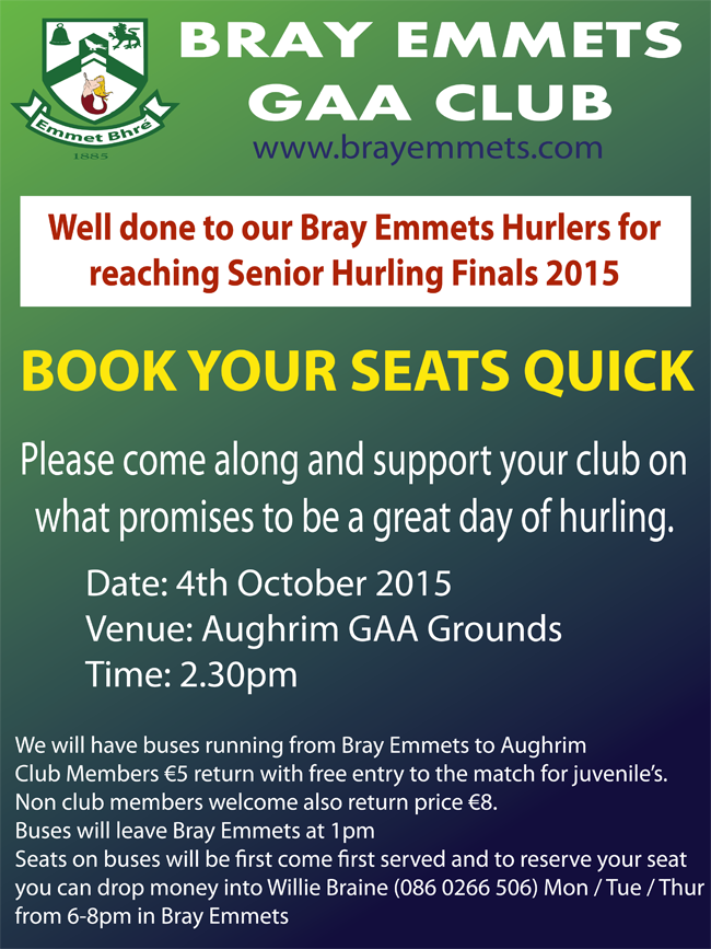 Bus To Senior Hurling 2015